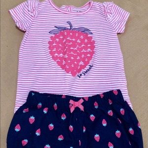 2 piece summer strawberry outfit Carters